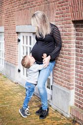 zwangerschaps fotoshoot met kind