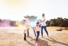 fotoshoot kleurenpoeder