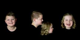 portret drieluik