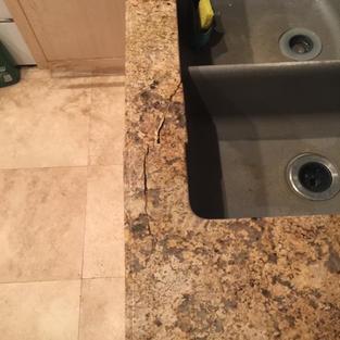 Granite Repair Before