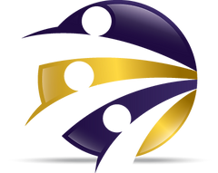Performance Support logo cirlce with purple and gold