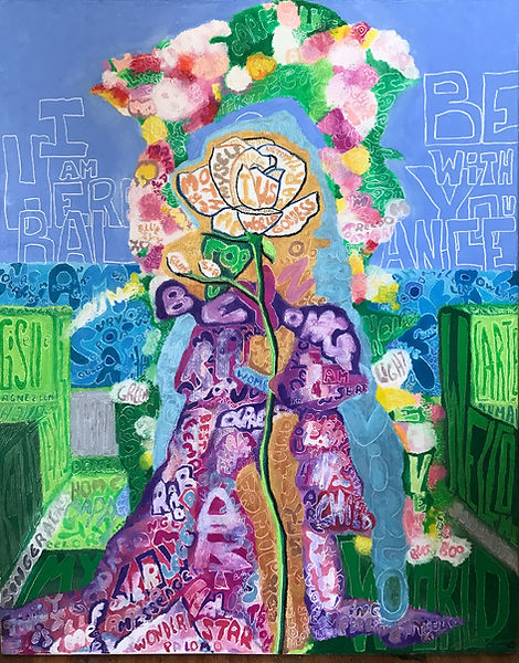"""""""Welcome Into My World"""" - Nicolas Quinten (Oil pastels on canvas)"""