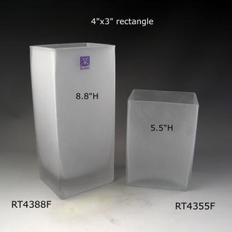 """Frosted Rectangle - 5.5"""" & 8.8"""" Height"""