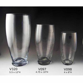"""Curved Vases - 8"""" 
