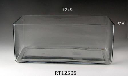12x5 Opening Rectangle Vase