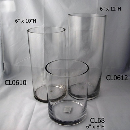 "6"" Wide Cylinder Vases - ALL HEIGHTS"