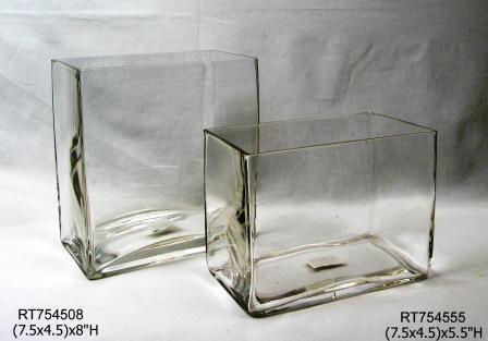"""7.5"""" x 4.5"""" Opening Rectangle Vase"""