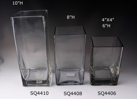 """3.5"""" & 4"""" Opening Square Vases from $2.45"""