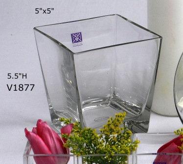 """5"""" Taper Square Vase"""