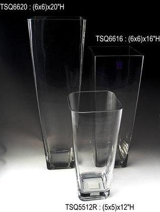 "12"" - 20"" Ht. Taper Square Vases"