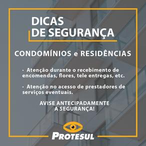 Dicas de segurança - Condomínios e Residências
