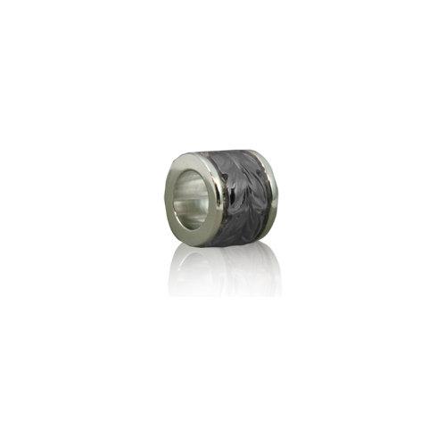 マイレビード・ペンダント(L) 8mmのツートーンカラー。ロジウムコーティング