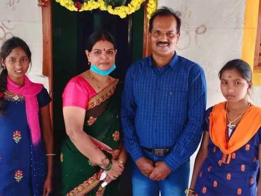 Frontline Worker builds home for Orphan sisters