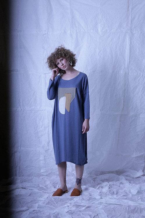 vestido mgc colagem anil+carmim