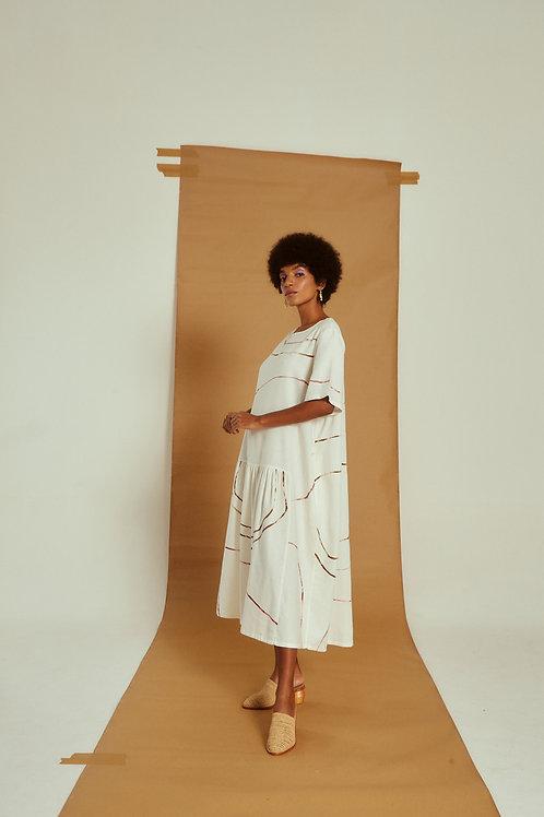vestido leque