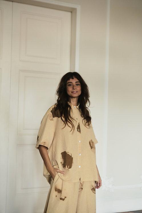 camisão manga ampla carimbo
