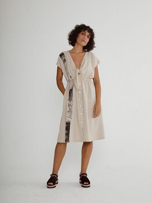 vestido nó decote