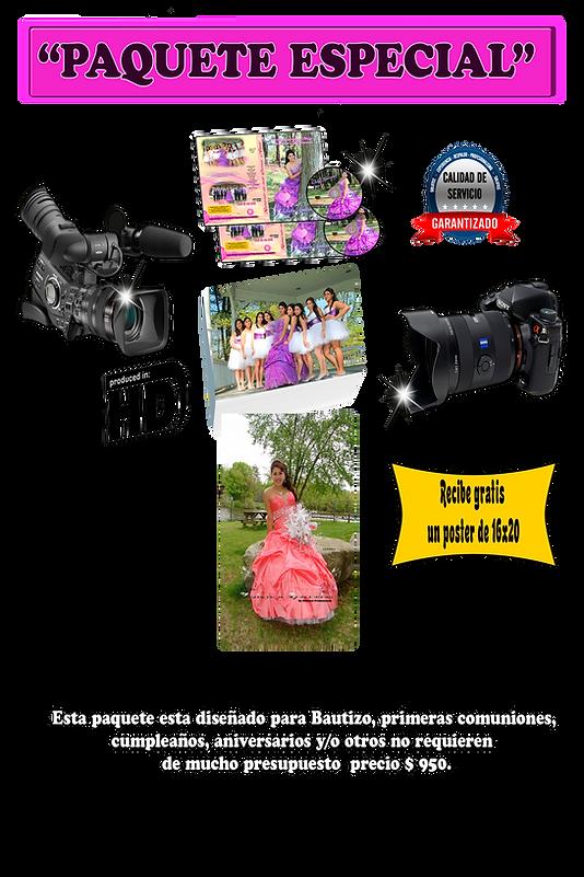 precios y paquete video y fotografia $ 950 MY PARTY NOW CORP