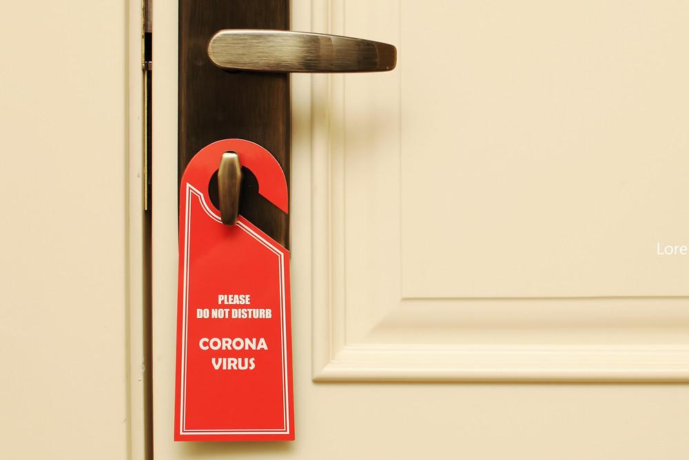 nie przeszkadzać koronawirus, hotele i pensjonaty, a pandemia.