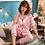 Thumbnail: Winter Pajamas Women Home Clothes Suit Long Sleeve Pyjamas Satin Sleep