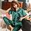 Thumbnail: Women Pajama Sets Silk Satin Pijama Turn-Down Collar Sleepwear Lady Long