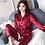 Thumbnail: Womens Silk Satin Pajamas Pyjamas Set Sleepwear Pijama Couple Pajamas Suit