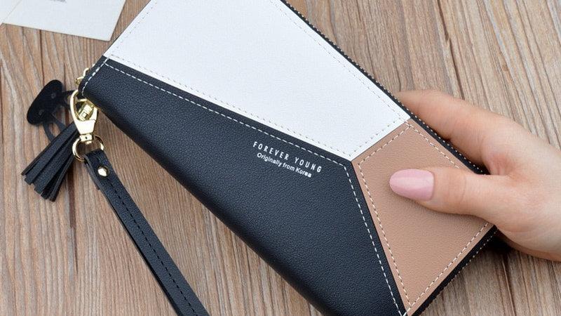 Leather Wallet Women Luxury Big Capacity Clutch Long Ladies Purse Card Holder