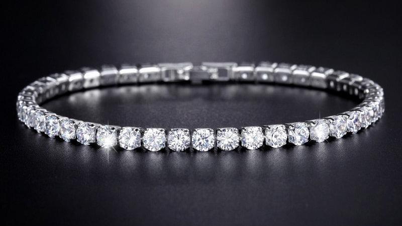 UMODE Clear Crystal Tennis Bracelet for Women Men Bracelet Cubic Zirconia