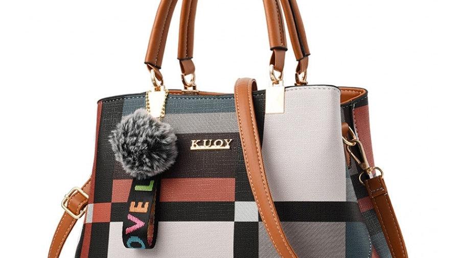 ACELURE New Casual Plaid Shoulder Bag Fashion Stitching Wild Messenger