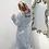 Thumbnail: Winter Warm Flannel Bathrobe Women Knee-Length Bath Robe Soft Thick Cute Pink