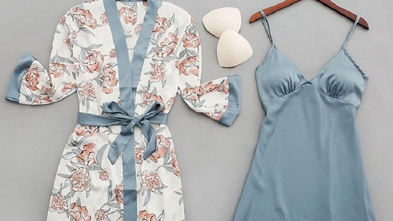 Sexy Women Sleepwear Nightgown Silk Satin Pajamas Robes Lounge Pyjamas