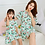 Thumbnail: Mother Daughter Dresses Summer Cotton Family Matching Outfit Cartoon Dressing