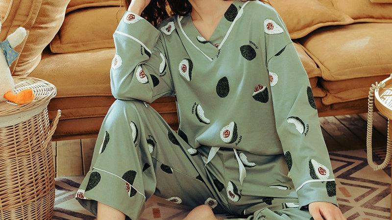 BZEL Women's Pajamas Sets Femme Nighty Casual Homewear Loungewear Cotton