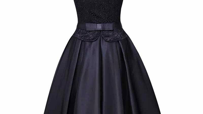 Dressv Scoop Neck Homecoming Dress Cheap a Line Knee Length Cocktail
