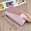 Thumbnail: Leather Wallet Women Luxury Big Capacity Clutch Long Ladies Purse Card Holder