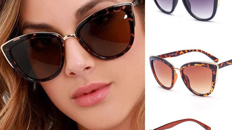 Women New Fashion Vintage Gradient Female Eyewear UV400 Glasses Retro Sunglasses
