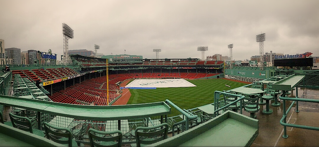 Rainy Fenway, Boston MA 2015