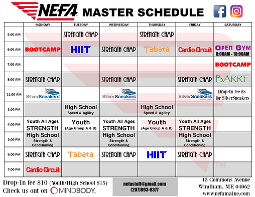 Gym Group Classes Schedule (November 201