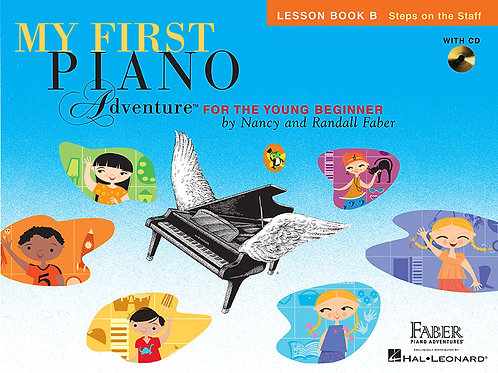 My First Oiano Adventure lesson book B Steps on the staff