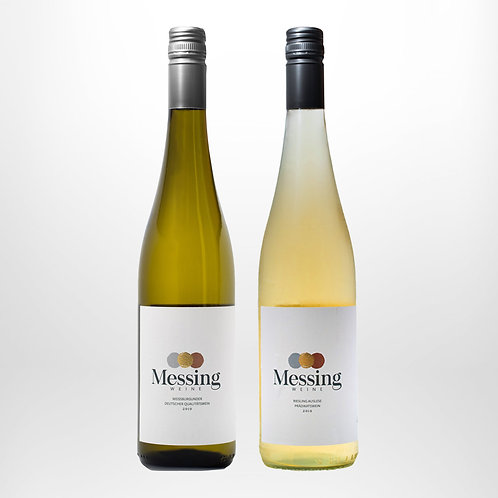 Messing Weißburgunder (0,75l) + Messing Riesling Auslese (0,75l)
