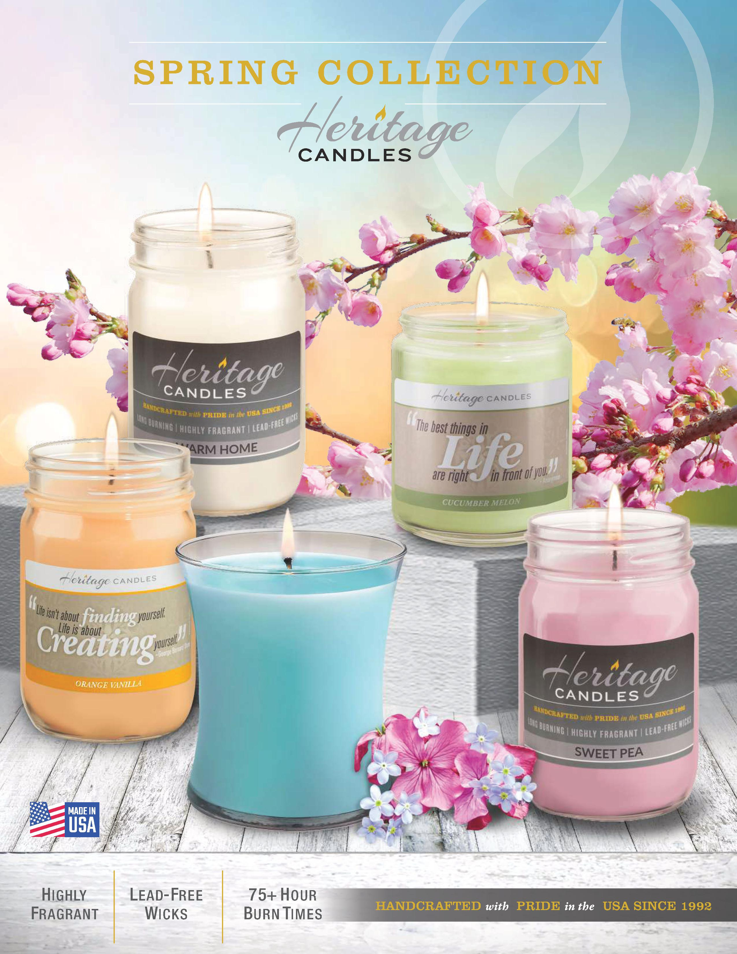 Heritage Candles Spring Collection 2020.