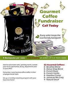 BackPack Coffee fundraising information flyer