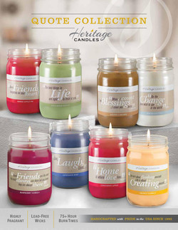 Quote Candles Brochure by Heritage Candles