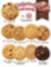 Otis Spunkmeyer simple to sell single page cookie dough fundraising brochure