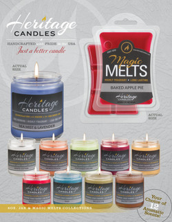 Heritage Candles $10 Fundraising Brochur