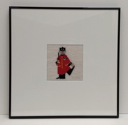 Small tapestry of Chelsea Pensioner.