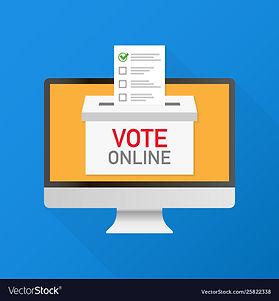 voting-online-concept-hand-putting-votin