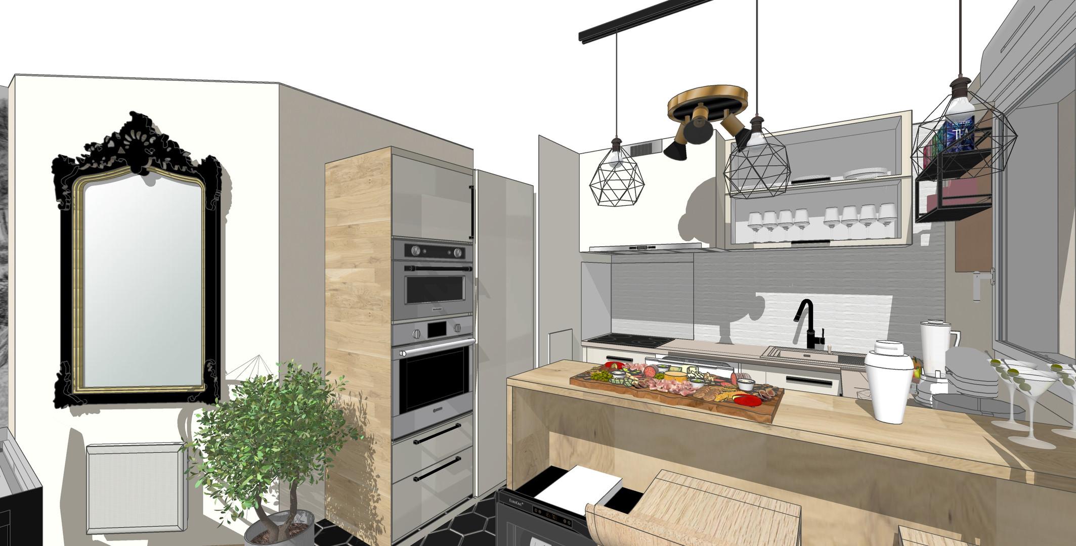 Vue 3D - cuisine 2