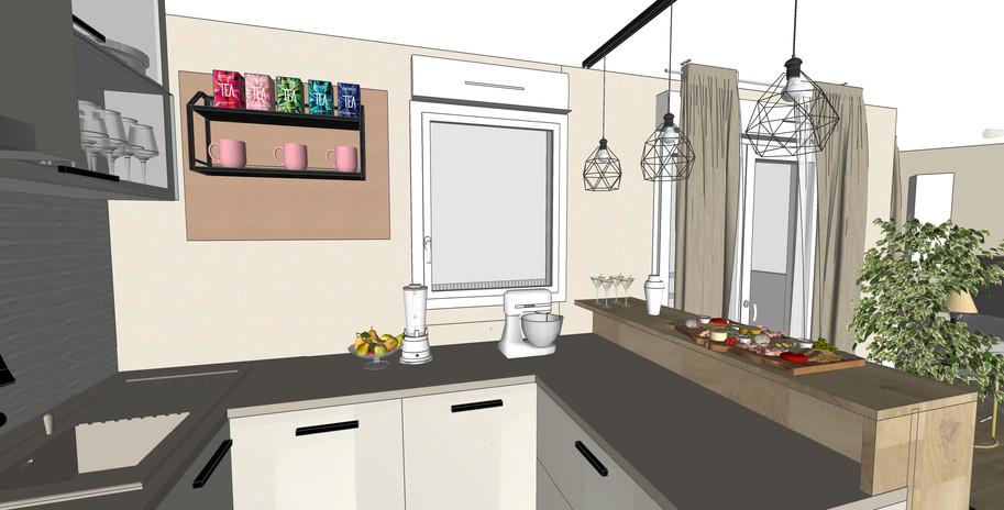 vue 3D cuisine - 3