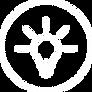 Icono de un bombillo encendido